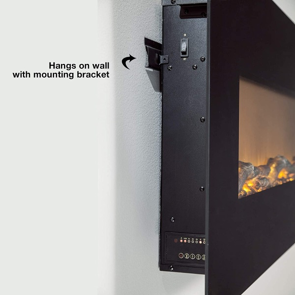 hanging a fireplace on a wall