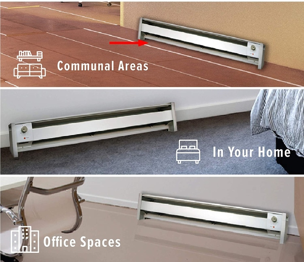 where to place a baseboard heater