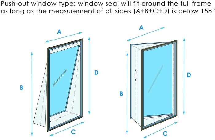 which types of window does window seal kit fit