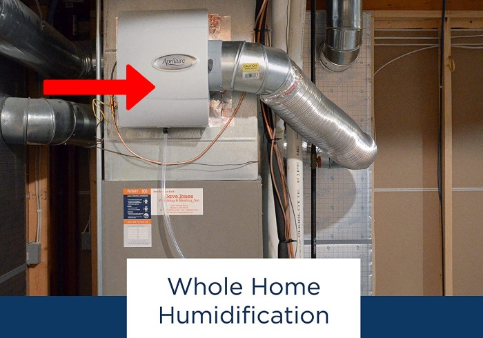 whole home humidifier installed into HVAC ductworks