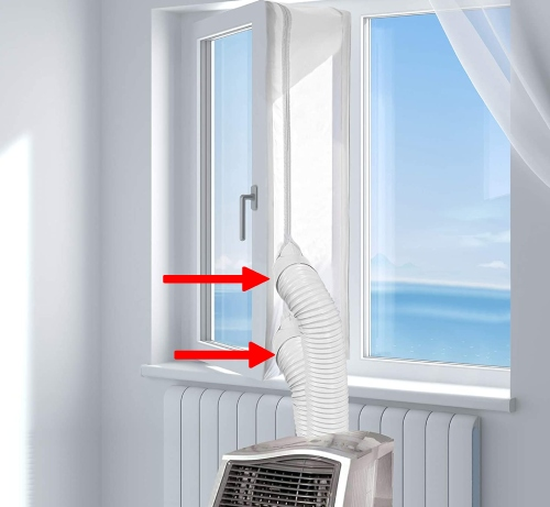 window seal for dual hose portable air conditioner